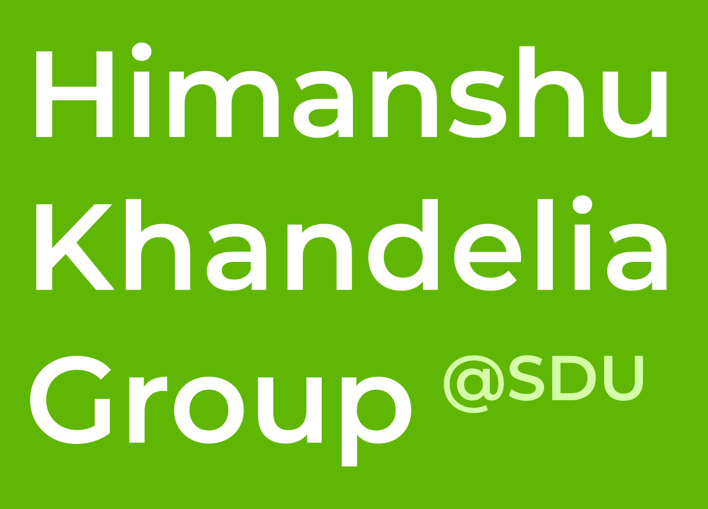 Himanshu Khandelia Group